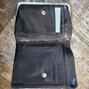 Black hobo wallet.